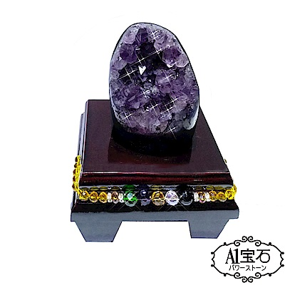 A1寶石 頂級巴西天然紫晶鎮/陣-同烏拉圭水晶洞功效490g(贈五行木座) @ Y!購物