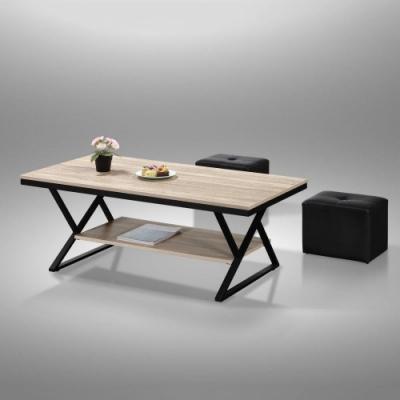 MUNA TB011型4尺鐵架茶几(共三色)(不含小椅) 120X60X46cm