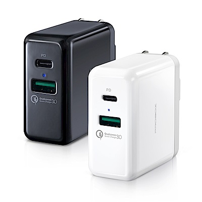 PROBOX Type A+C 雙孔 PD/QC3.0 USB急速充電器