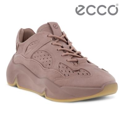 ECCO CHUNKY SNEAKER W 潮趣簡約輕量透氣休閒運動鞋 女鞋 木粉色