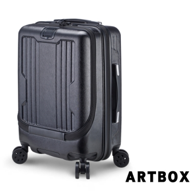 【ARTBOX】城市序曲  20吋海關鎖商務款胖胖行李箱(太空黑)