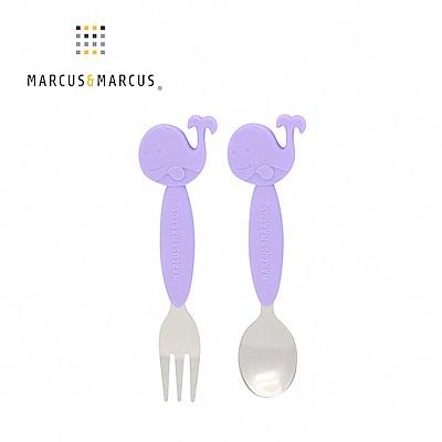 【MARCUS&MARCUS】動物樂園不鏽鋼叉匙餐具組-鯨魚