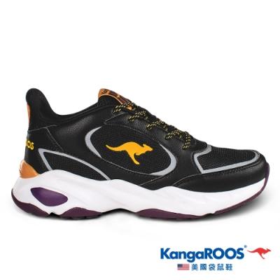 KangaROOS 女 SMOOTHY 潮流運動鞋(黑/桔-KW01150)