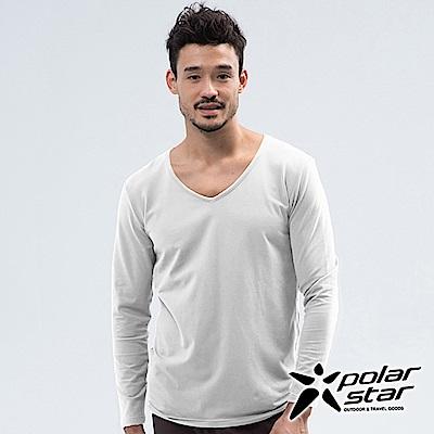 PolarStar 男 V領排汗快乾衛生衣『白』 P18225