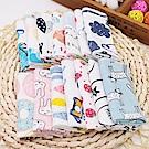 嬰幼兒純棉口水巾寶寶針織棉手帕印花小方巾-12條入