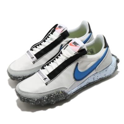 Nike 休閒鞋 Waffle Racer Crater 女鞋 基本款 復古鞋型 簡約 穿搭 輕便 白 藍 CT1983100