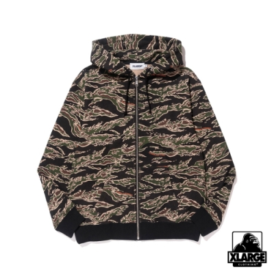 XLARGE TIGER CAMO ZIP HD SW連帽外套-迷彩