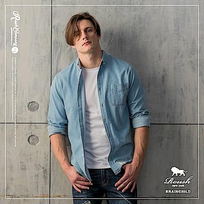 Roush 美式水洗牛仔襯衫(2色)