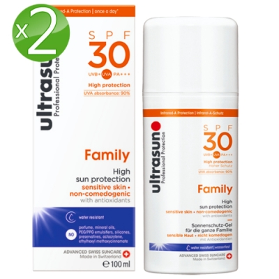 Ultrasun優佳 倍護水感防曬乳SPF30*2入組PA+++(100ml/罐)