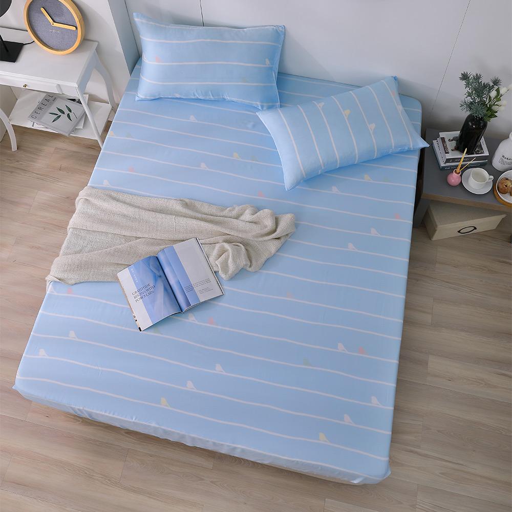 岱思夢 加大100%天絲床包枕套三件組 度假