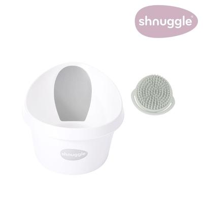 【英國Shnuggle】月亮澡盆MAX+澎澎沐浴刷(兒童浴盆 多款可選)