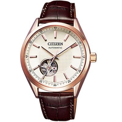 CITIZEN 紳士時尚機械錶(NH9110-14A)40mm