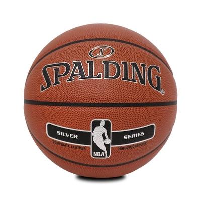 SPALDING 籃球 17 Silver NBA PU 斯伯丁 7號球 室內外 咖啡 黑 銀 SPA76018