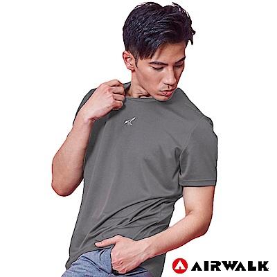 【AIRWALK】男款吸排短T-中灰