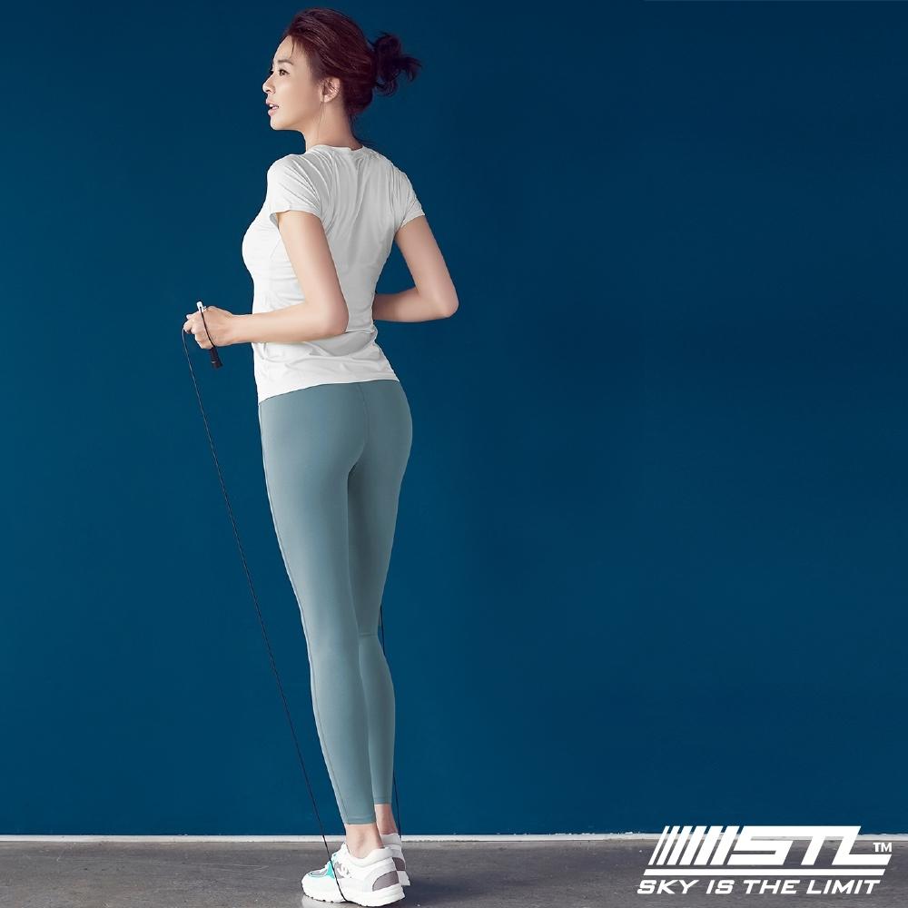 STL yoga Light Quickdry legging 韓國『超高腰』運動機能 壓力訓練緊身褲 9分 乾燥寶寶藍 瑜珈/重訓/戶外/機能/登山/路跑