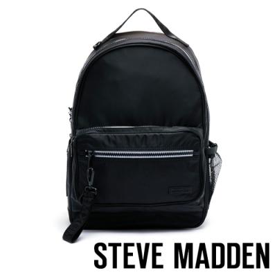 STEVE MADDEN-BPLAY 極簡主義休閒雙肩後背包-黑色