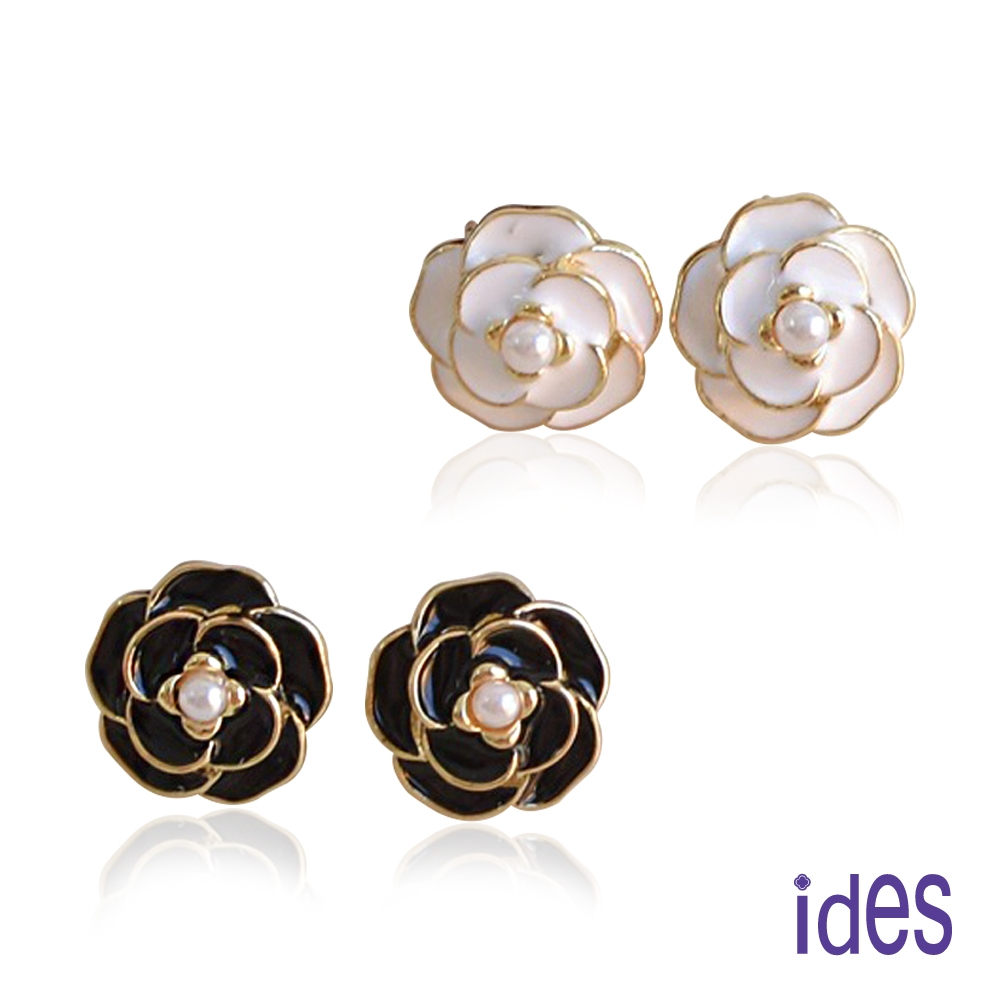 ides愛蒂思 時尚輕珠寶淡水貝珠耳環/經典小香風