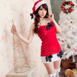 聖誕裝 熱銷款洋裝式聖誕裝 xmas派對服性感聖誕服 跨年派對服 流行E線