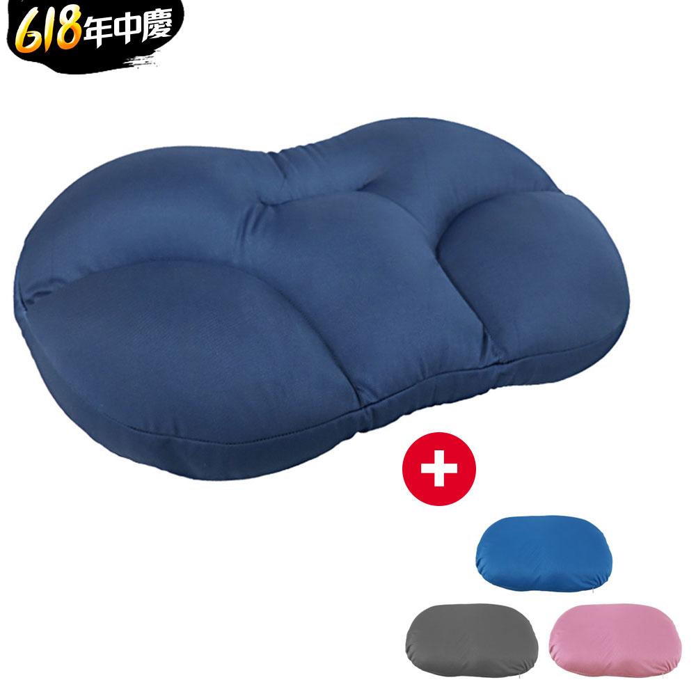 ANDYMAY2 韓式類麻藥舒眠枕+冰絲枕套1入(顏色隨機)