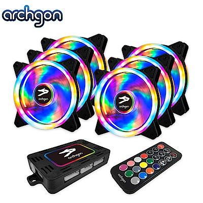 archgon亞齊慷 RGBCF16 Hanabi 60 RGB 電競風扇組(6入)