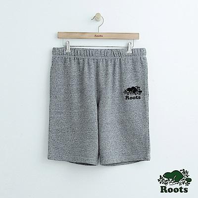男裝Roots 經典棉質休閒短褲-灰