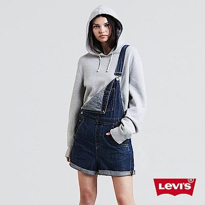 Levis 吊帶褲 女款 經典雙馬Logo 藍色