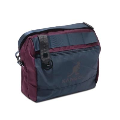 Kangol 郵差包 Messenger Bag 男女款 袋鼠 斜背包 尼龍 運動休閒 外出 輕便 藍 紫 6725300140