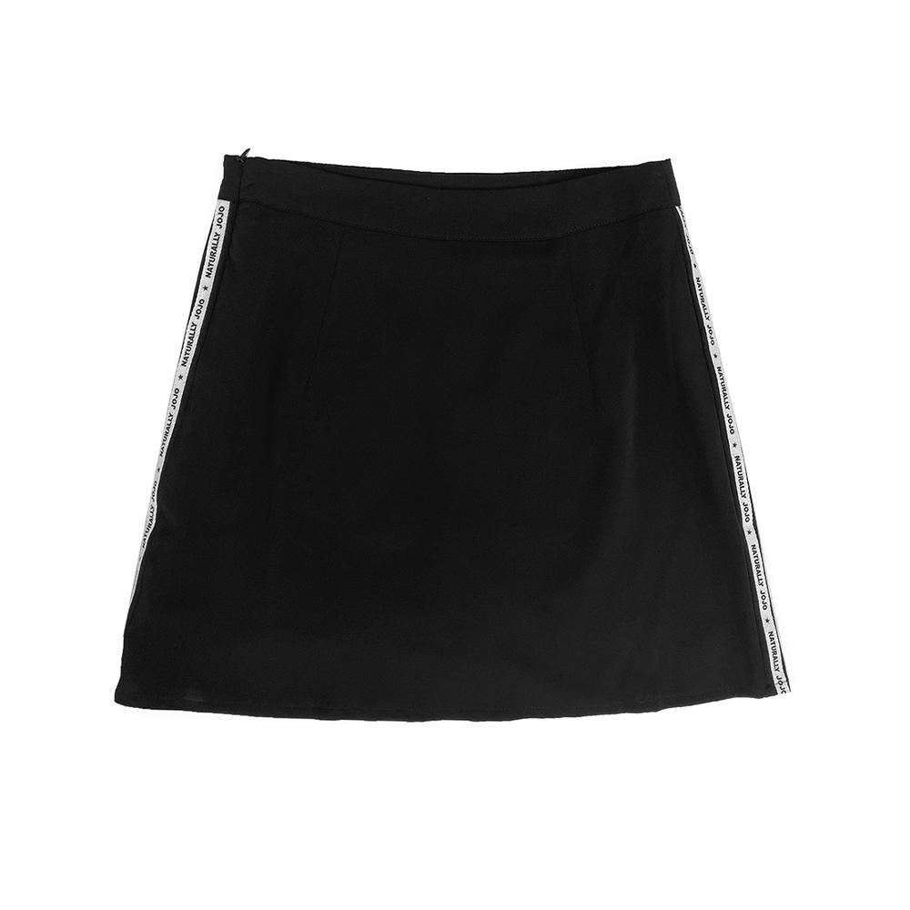 【NATURALLY JOJO】原創側帶短褲裙(黑)