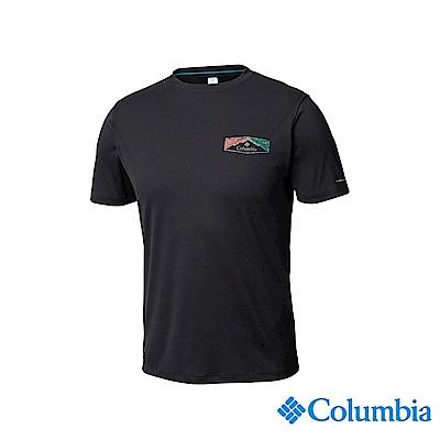Columbia哥倫比亞男款-UPF30涼感快排短袖上衣-深灰UAE64630DY