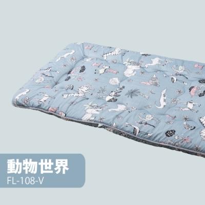 【FL 生活+】 日式加厚8cm單人床墊(90*200cm)-動物世界(FL-108-V)