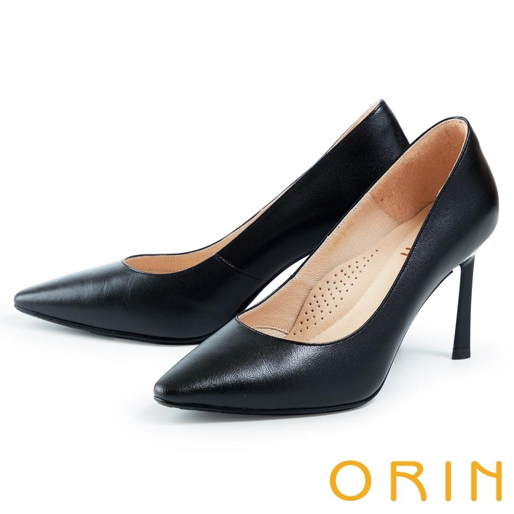 ORIN 素面摩登尖頭 女 高跟鞋 黑色