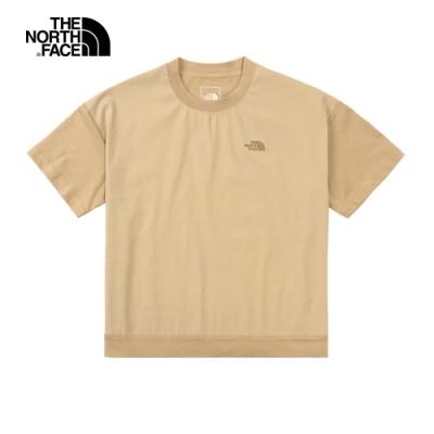 The North Face北面女款卡其色短版短袖T恤|4U9EH7E
