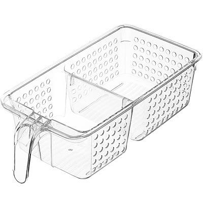 《KitchenCraft》雙格握柄冰箱收納盒