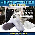 韓國KW美鞋館 獨家矽膠雨鞋套防水防滑鞋套(兩入)-白