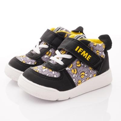 IFME健康機能鞋 護踝學步鞋款 NI7SB1黑花(寶寶段)