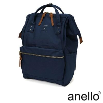 anello RE:MODEL 防潑水經典口金後背包 深藍
