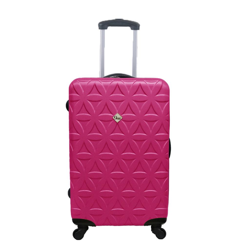 Gate9花花系列/24吋/ABS霧面輕硬殼旅行箱/行李箱-桃紅色