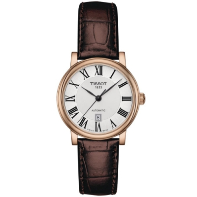 TISSOT天梭 CARSON 經典機械手錶(T1222073603300)-30mm