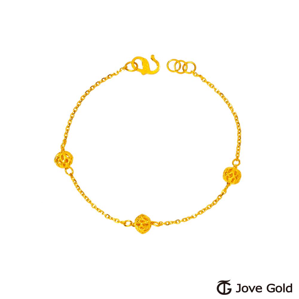 JoveGold漾金飾 三世情緣黃金手鍊-B款