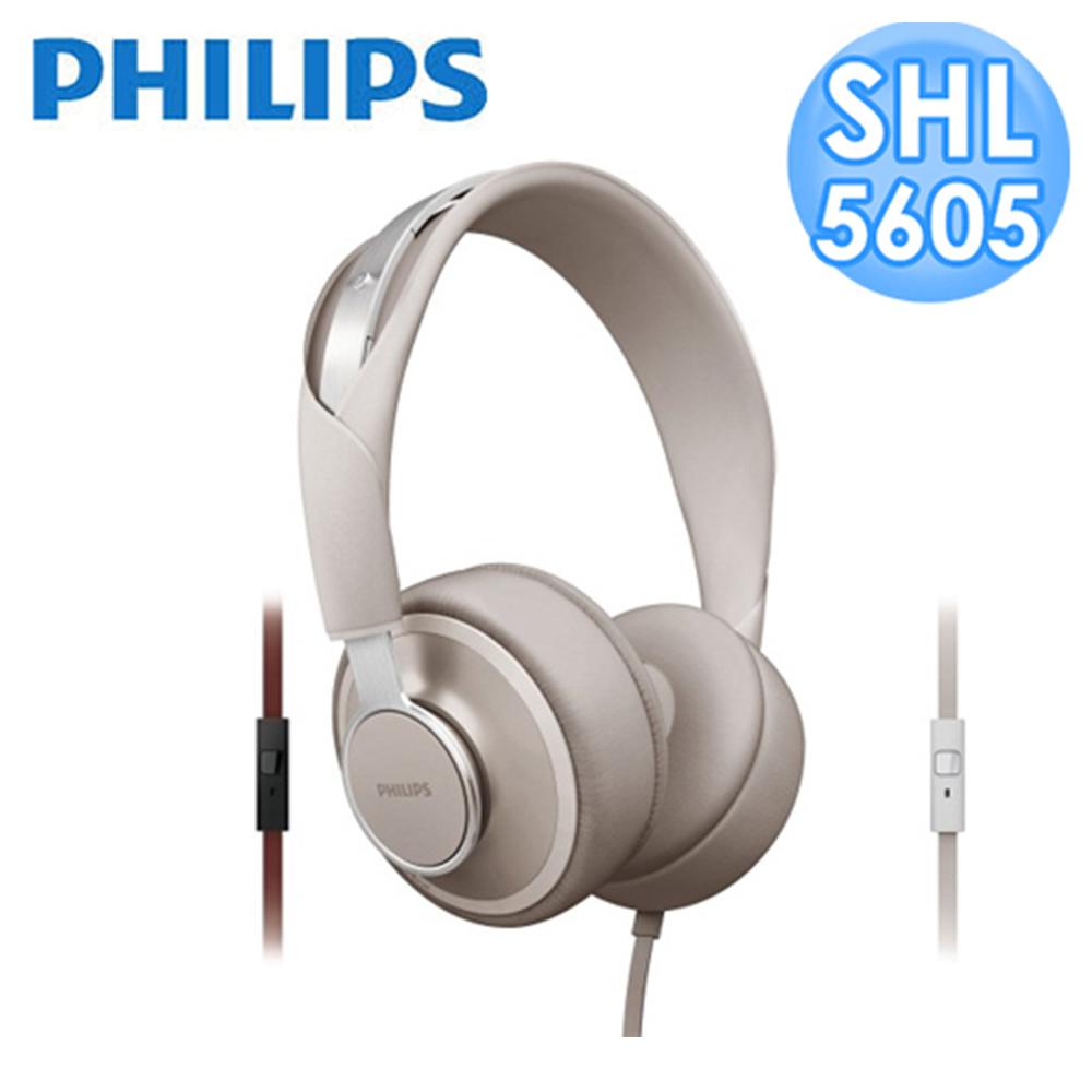 【福利品】PHILIPS Foldie SHL5605頭戴式耳機(灰白色)