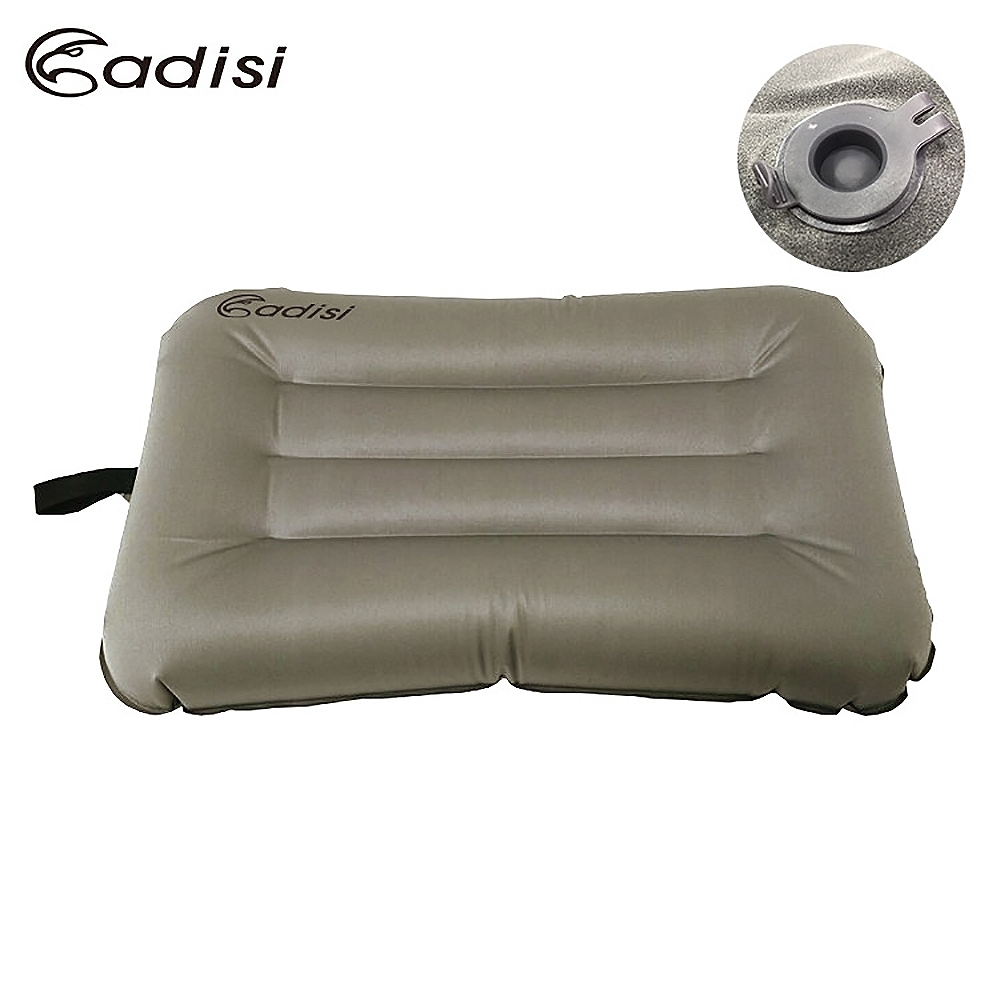 ADISI 拉帶式空氣枕頭API-103R 石頭彈性布(輕量、便攜、舒適、登山露營、睡枕)