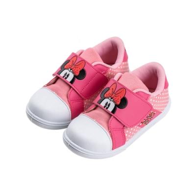 迪士尼童鞋  米妮  魔鬼氈中小童休閒鞋-粉