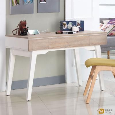 D&T 德泰傢俱 Ivy簡約北歐生活4尺書桌 寬120X深59.5X高76公分