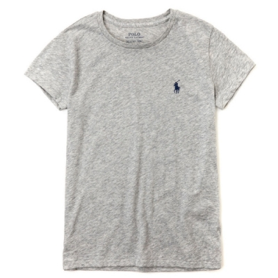 Polo Ralph Lauren 經典小馬素面短袖T恤(女)-灰色