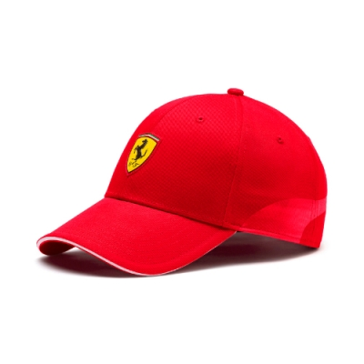 PUMA-男女Ferrari Fanwear棒球帽-法拉利紅