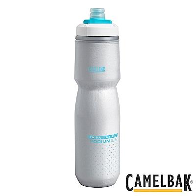 《CAMELBAK》ICE酷冰保冷噴射水瓶 沁藍 620ml(CB1872401062)