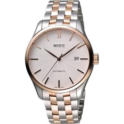 MIDO Belluna II Gent 經典機械腕錶-銀x雙色版/40mm M0244072203100