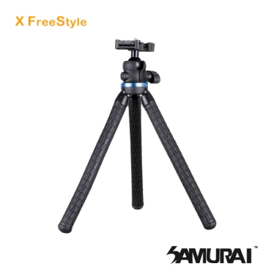 SAMURAI X FreeStyle 纏繞軟管旅遊小腳架  (附手機夾)