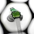 I AM 電子液晶 繽紛色彩 錶帶自由搭配 矽膠手錶-綠x深灰x綠/38mm