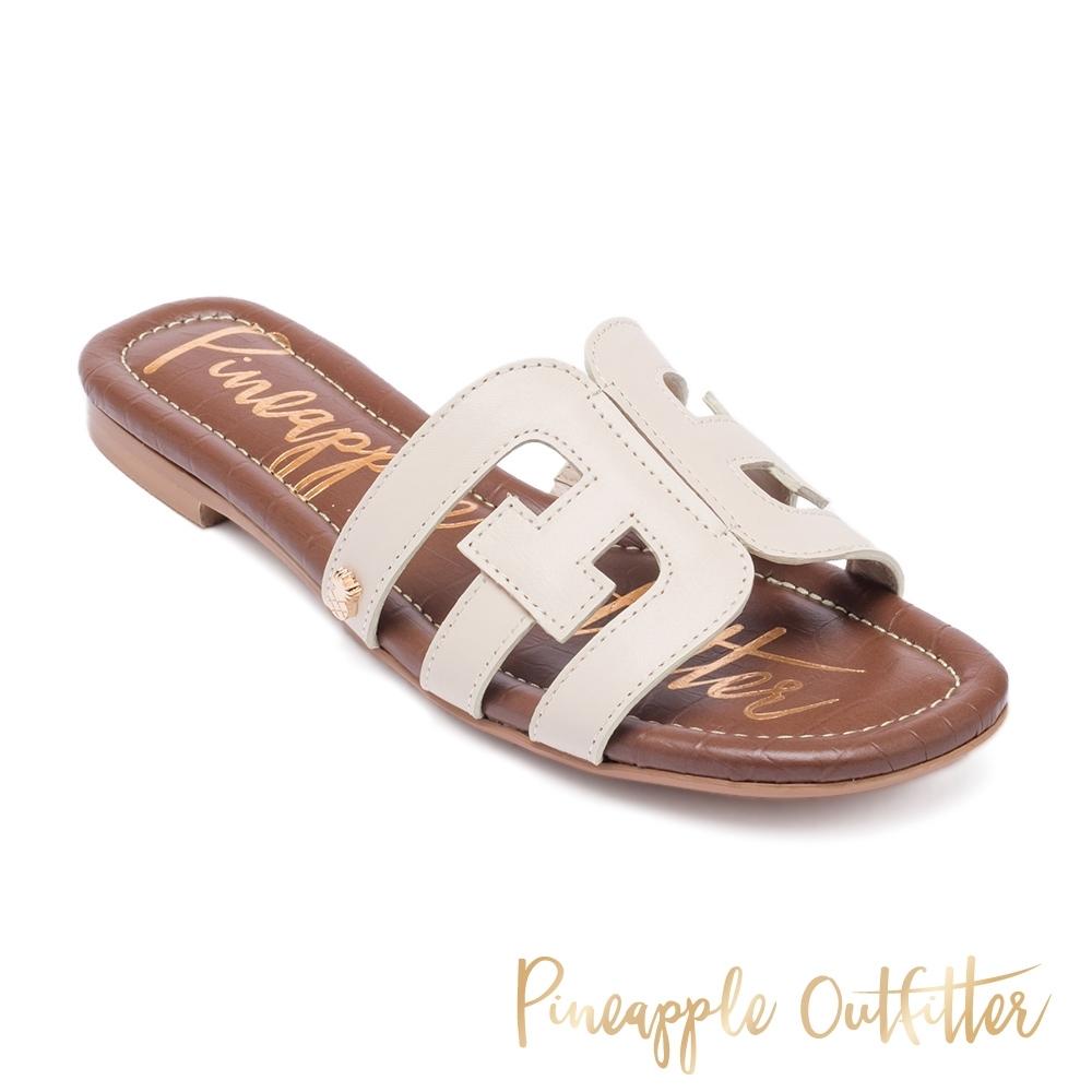 Pineapple Outfitter-Fermel 時尚皮革造型平底拖鞋-白色